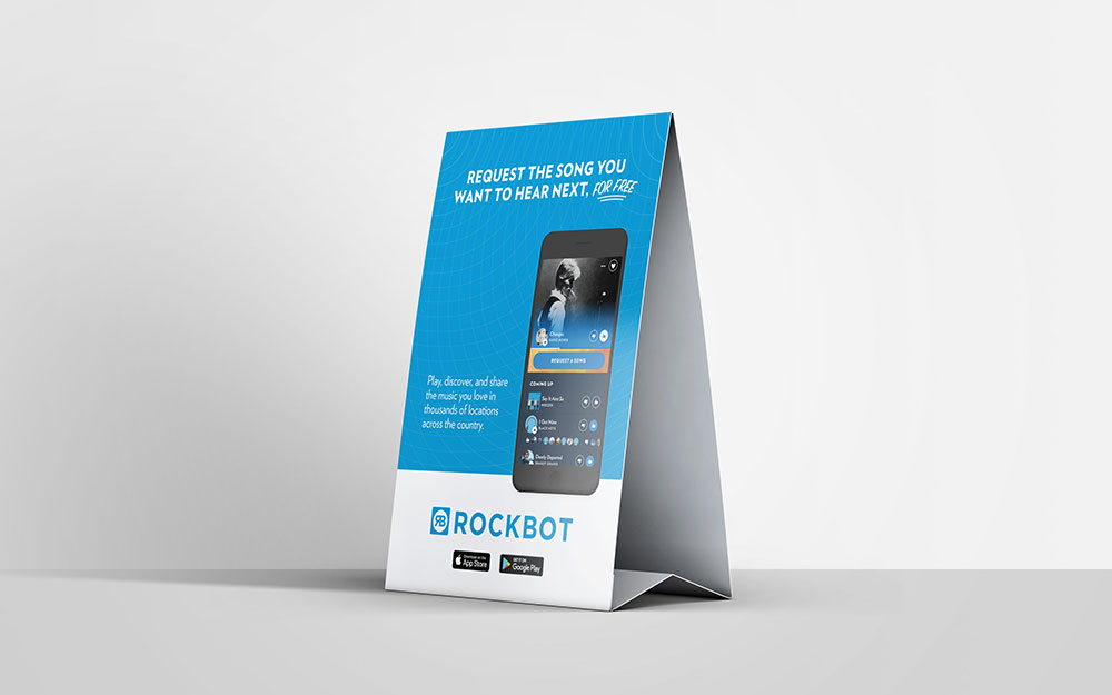 Rockbot Table Tent